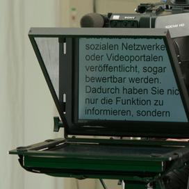 Telepromter mieten inklusive Operator in Wien