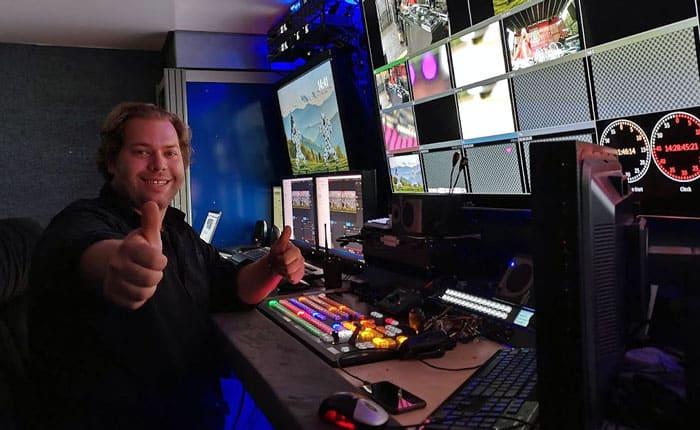 LSTV Übertragungswagen mit Tricaster-Liveregie und Internetbonding