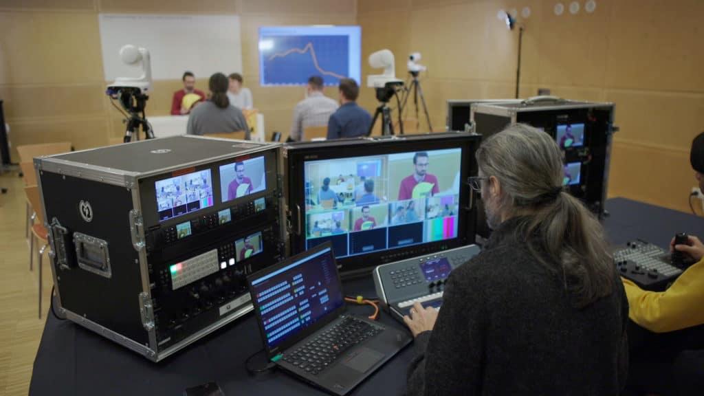 Atem Liveregie von MGL-Videoprodutkion in Action.